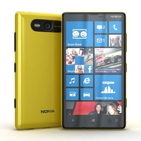 3d nokia lumia 820 yellow