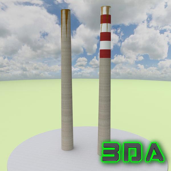 3d model smoke stack