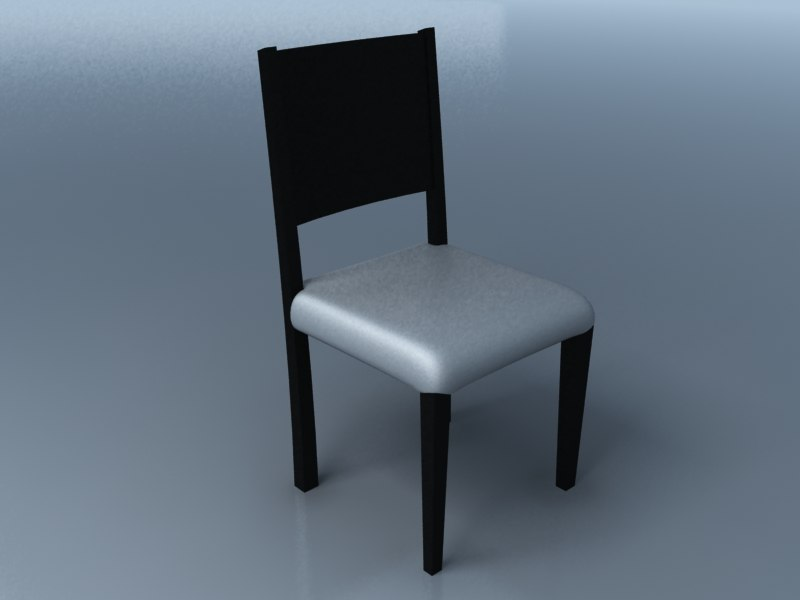 chair simple 3d obj