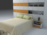 bedroom room 3d model