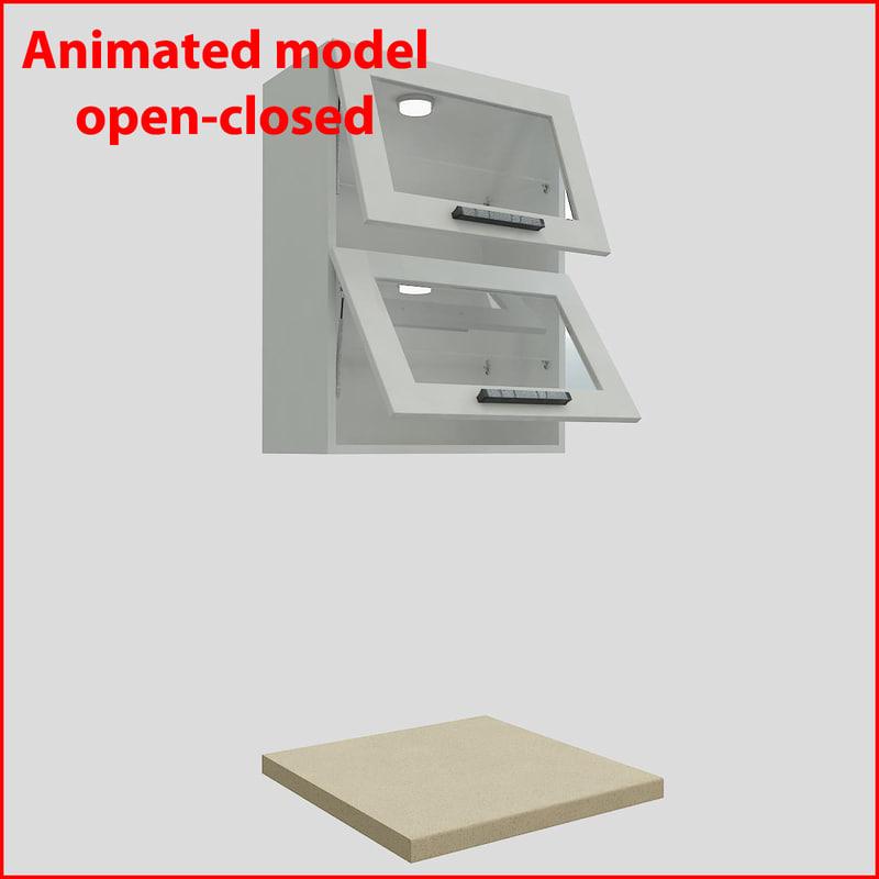 3d kitchen furnitures 60 cm