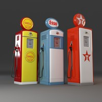 3d old gas pumps model