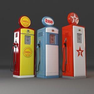 3d old gas pumps model