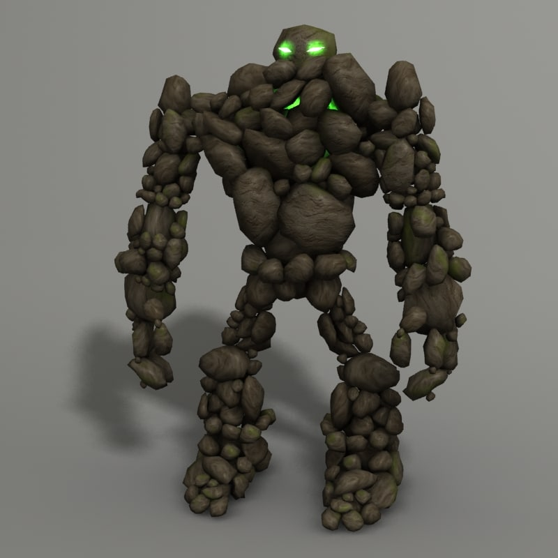 3d model rock monster for Monster 3d model