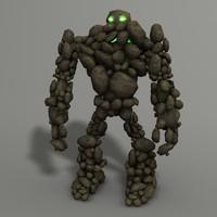 3d model rock monster