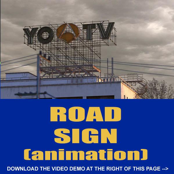 3d road sign model