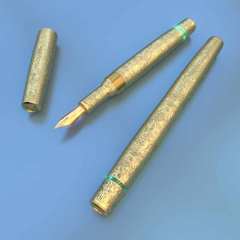 item fine writing 3d model