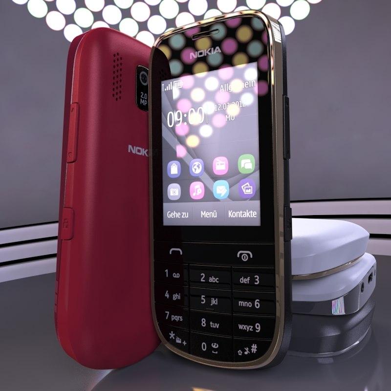 Nokia Asha 203 3d Model
