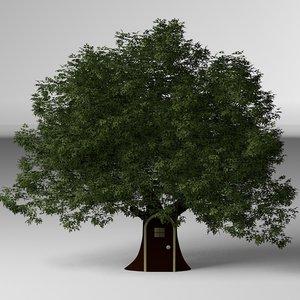 treehouse 3d obj