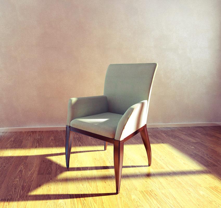 3d model armchair verano