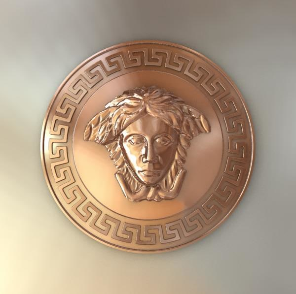 3d versace greek and medusa