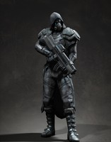 3d model soldier assassin alien