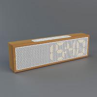 3d lexon titanium clock radio