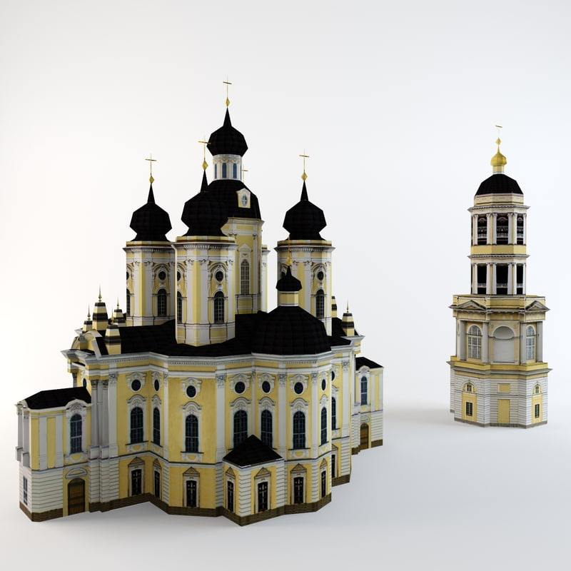 3d model low-poly st petersburg vladimir