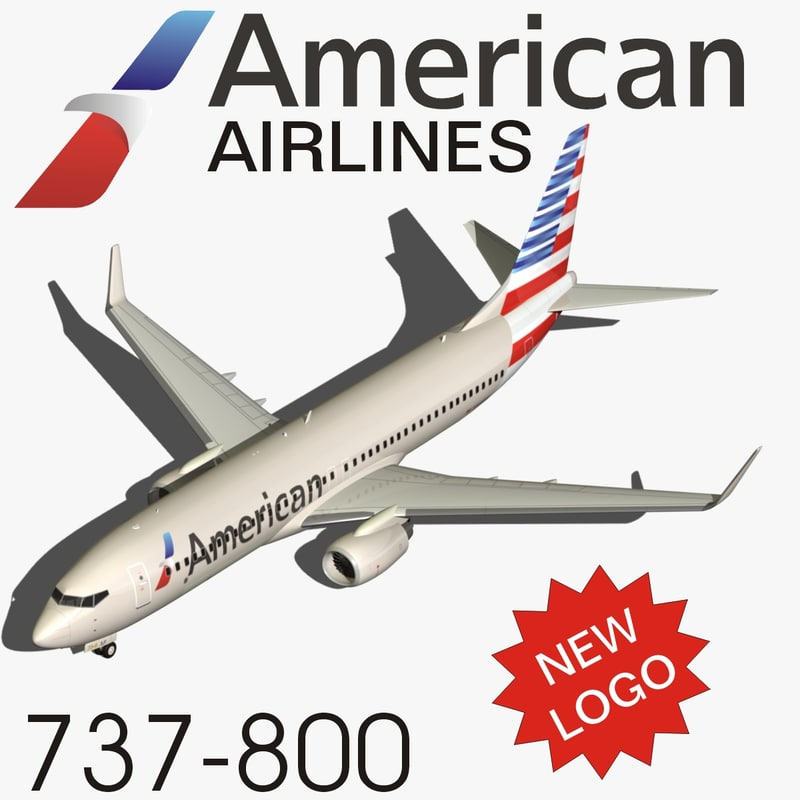 3d boeing 737-800 american airlines model