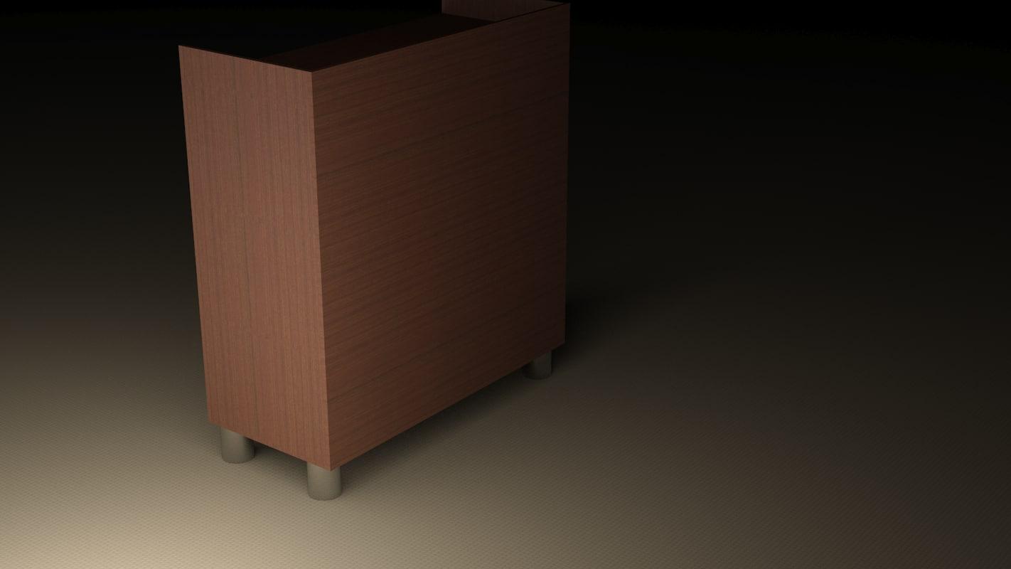 3ds max simple bookshelf