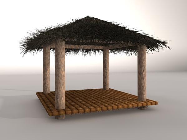 small beach hut obj