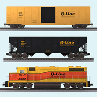 3d mega freight train