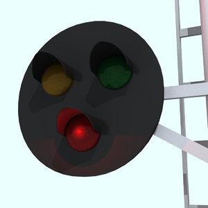 signal lights 3d max