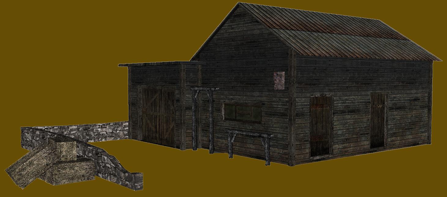 3d old farm model