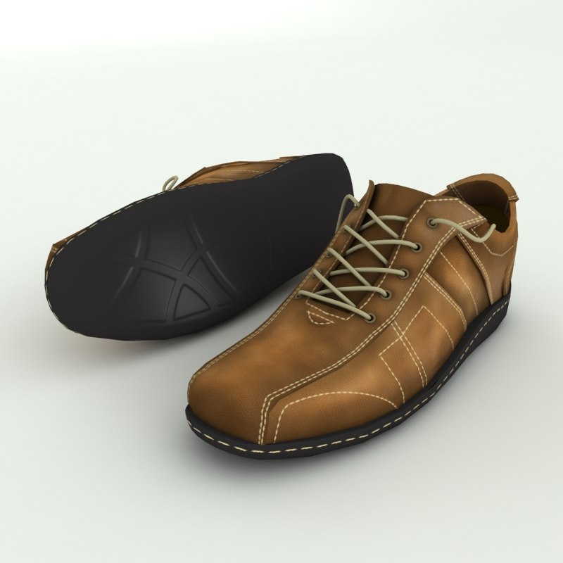 3d men shoes model