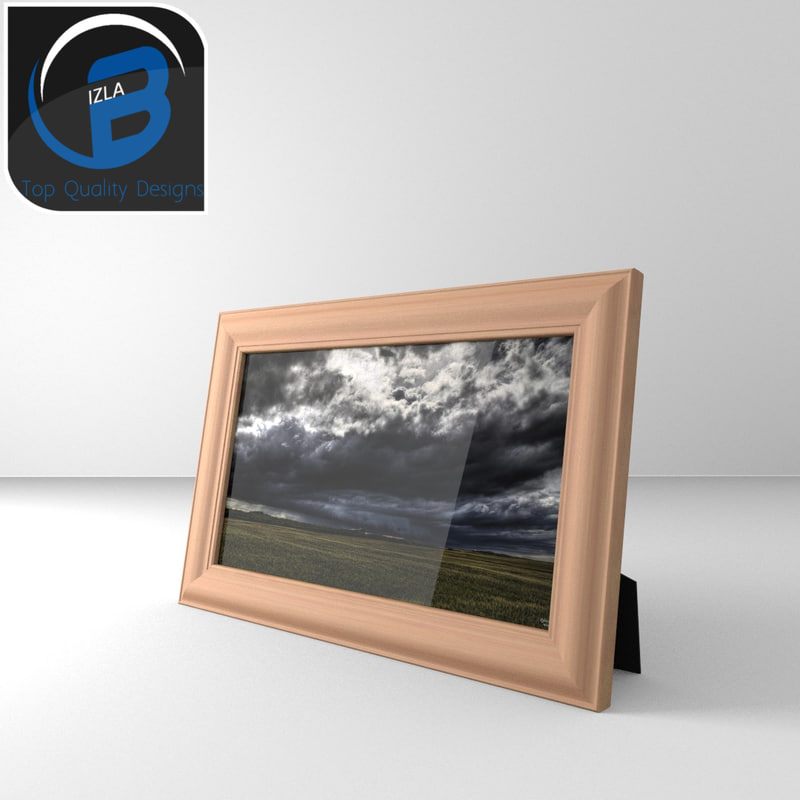 photo frame wood 3d model