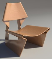 3d model greette chair