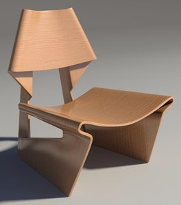 3d model greette chair
