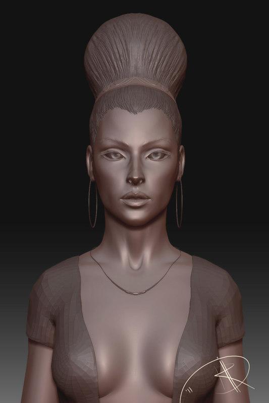 3d sculpture monica