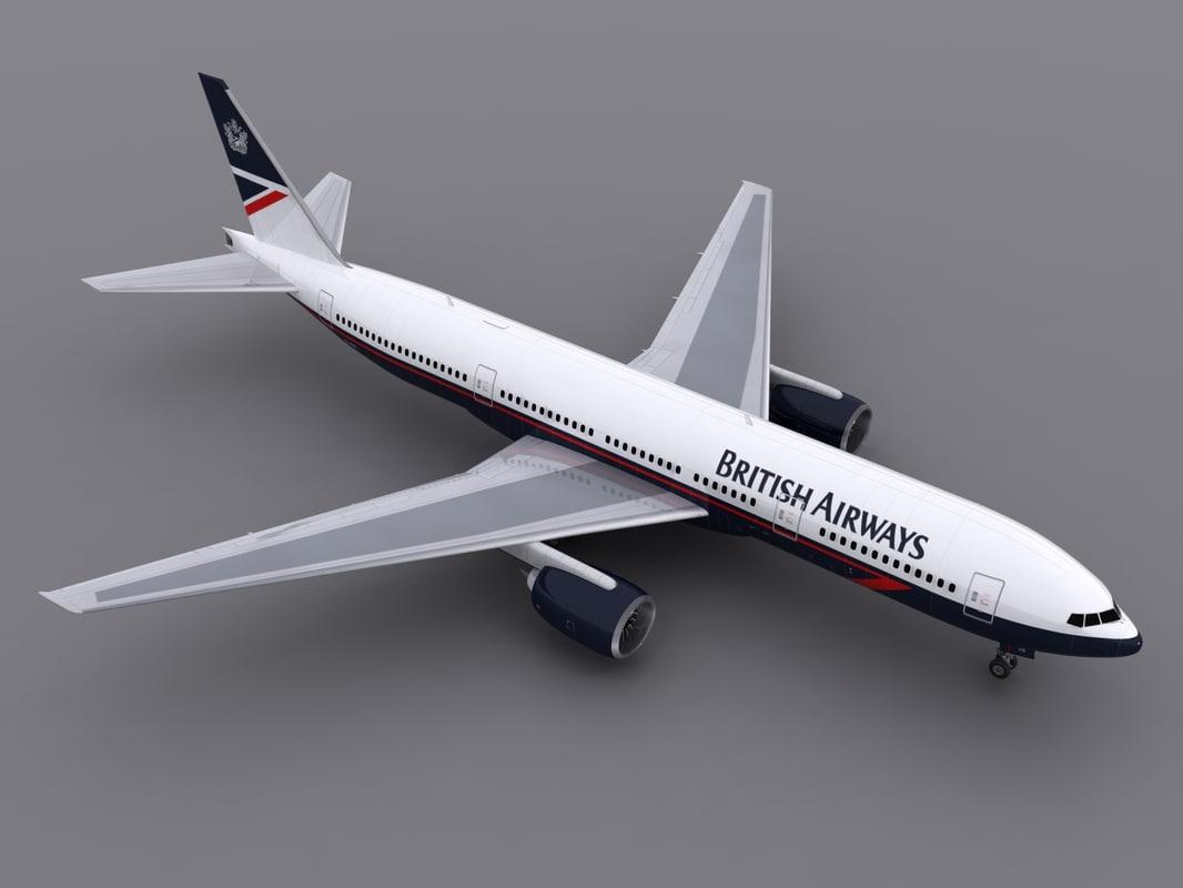 3d aircraft ba model