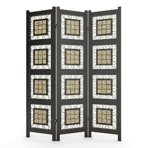 3d model room divider