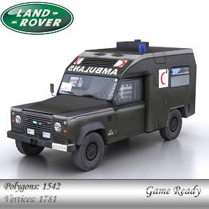 3d model land rover 110 defender