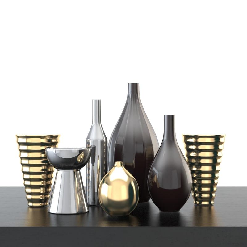 3d home decoration accessories model