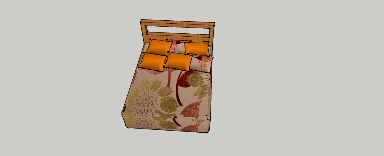3d model pillow bed room