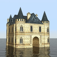 3d french medieval castle