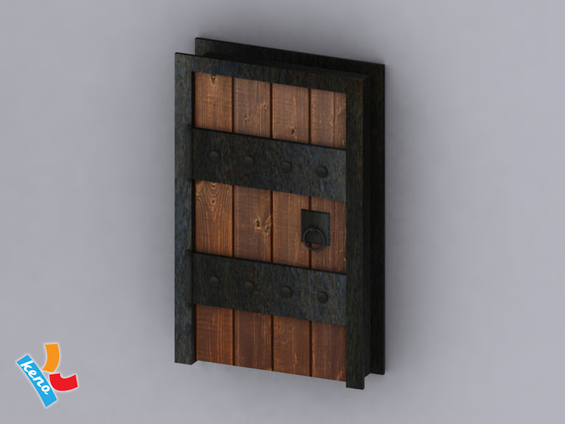 dungeon door 3d 3ds