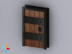 dungeon door 3d 3ds