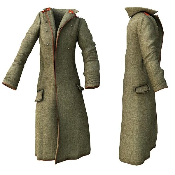 military coat 3d max