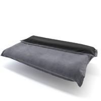 bed blanket 3d max