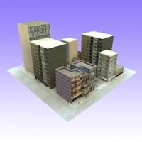 city unit block 2 3d c4d