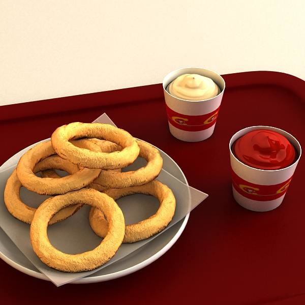 onion rings 3d 3ds