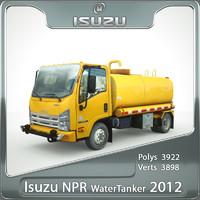 isuzu npr water tanker truck 3d max