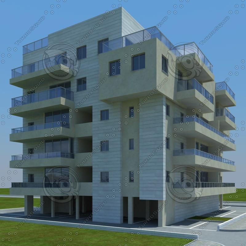 3d buildings 1 4 model