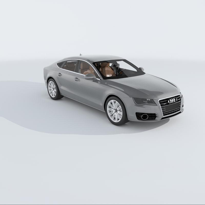 3ds Max Audi A7 Sportback 2011
