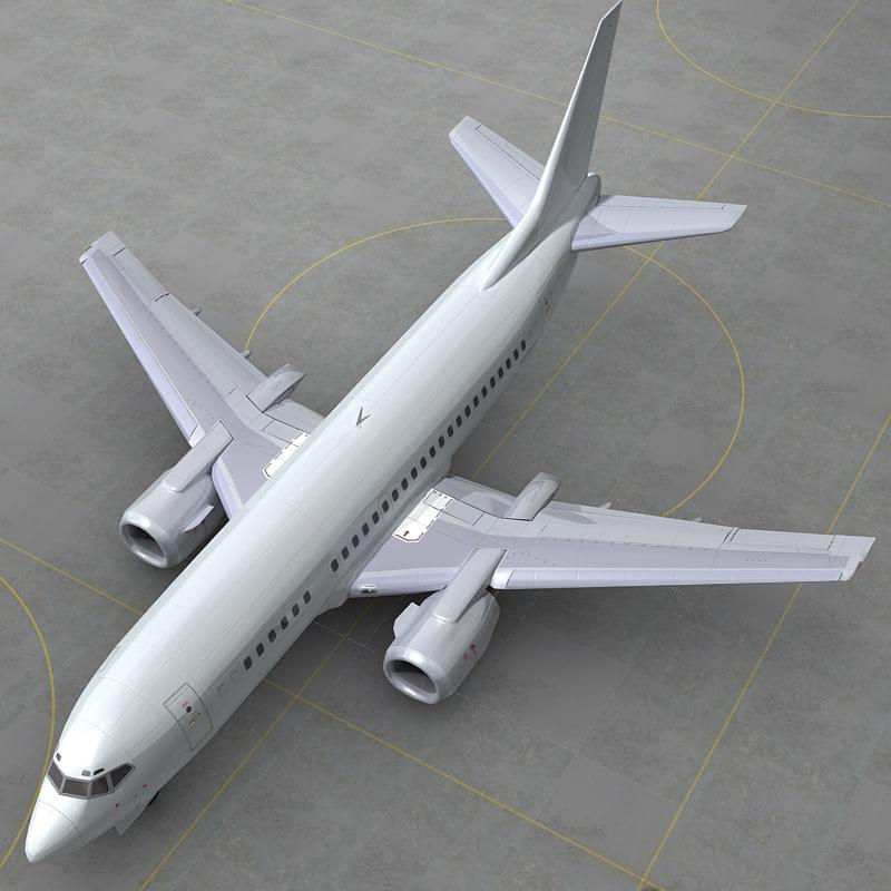 3d obj boeing 737 500 generic
