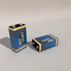 9 battery 3d c4d