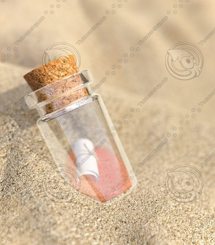 3d model photorealistic bottle sands