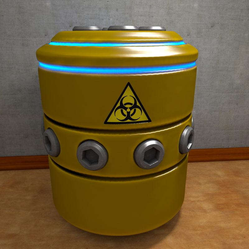 3d c4d scifi container