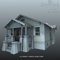 3d s craftsman bungalow house