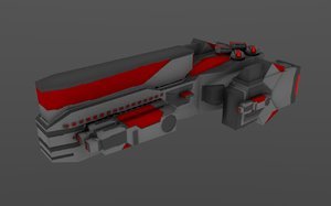 red ship 3d 3ds